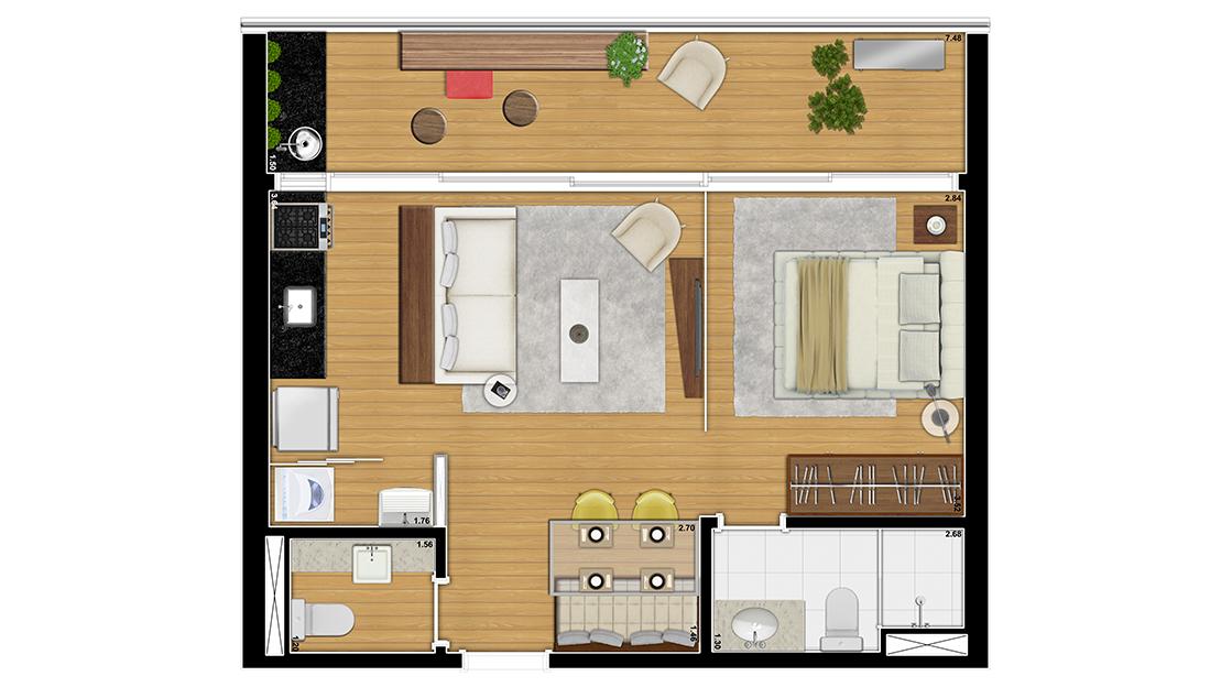 Apartamento 53,02m²
